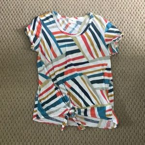 """Anthropologie """"TLA"""" knotted stripe tee"""